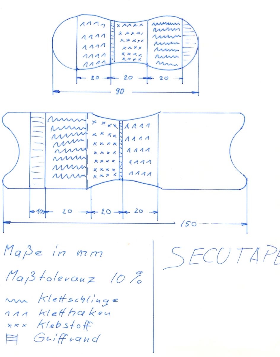 Secutape Fixierung Gr 2 / 3 Skizze