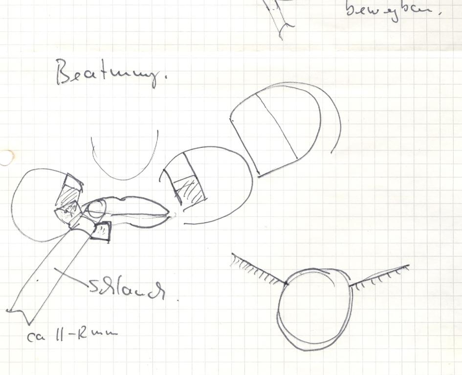 Fixierung von Endotrachealtuben / Skizze